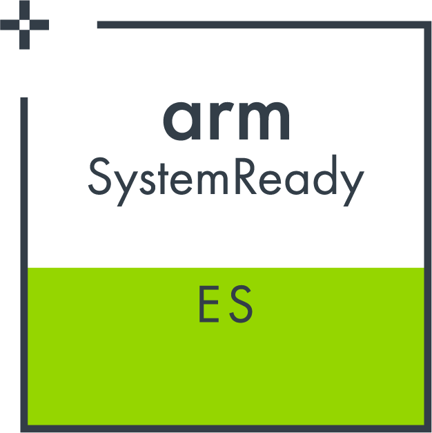Arm SystemReady ES certified