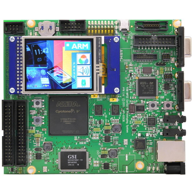 Arm MPS2 plus prototyping system.