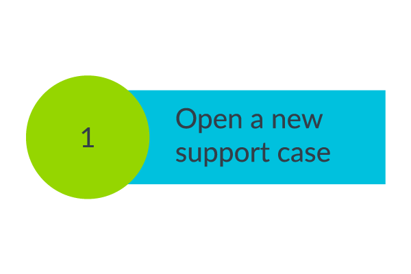 Step 1. Open a new support case
