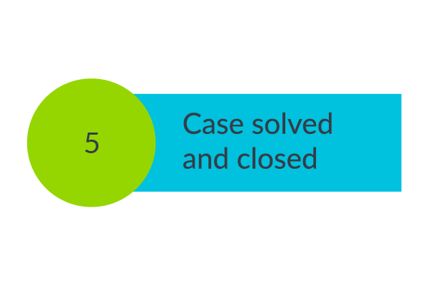 Step 5. Case solved and closed