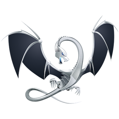 A white dragon flying.