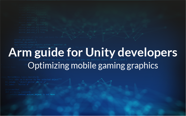 Text: Arm guide for unity developers.