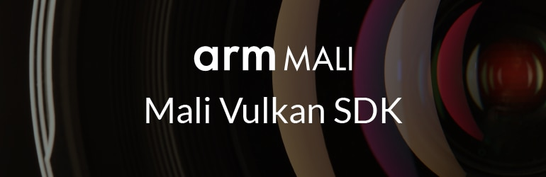 Text: arm Mali, Mali Vulkan SDK.