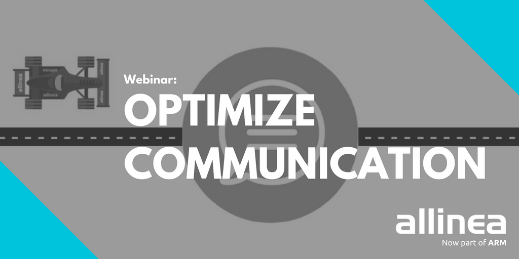 Text: Webinar: Optimize Communication (allinea).
