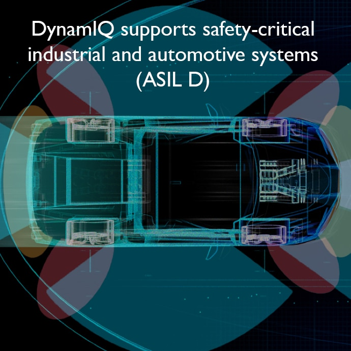 DynamIQ supports safety-critical industrial and automotive systems (ASIL D)