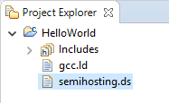 semihosting.ds file in project