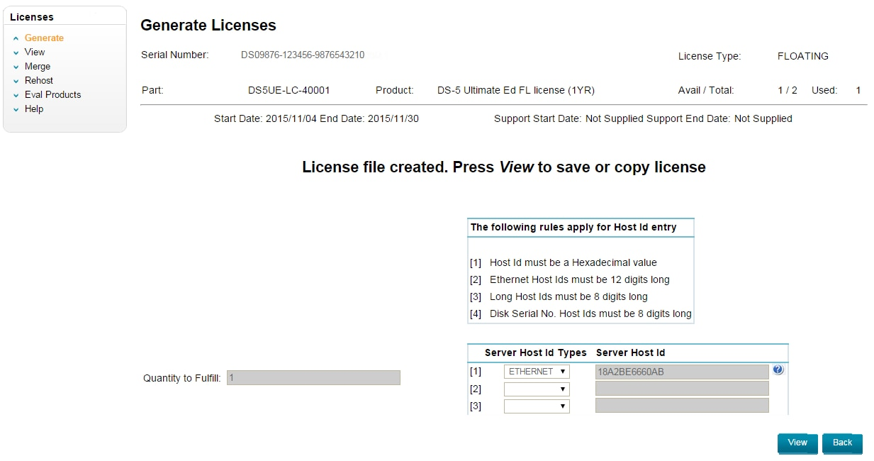 Generate Licenses - Check License file