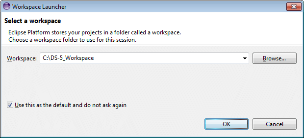 Workspace Launcher dialog