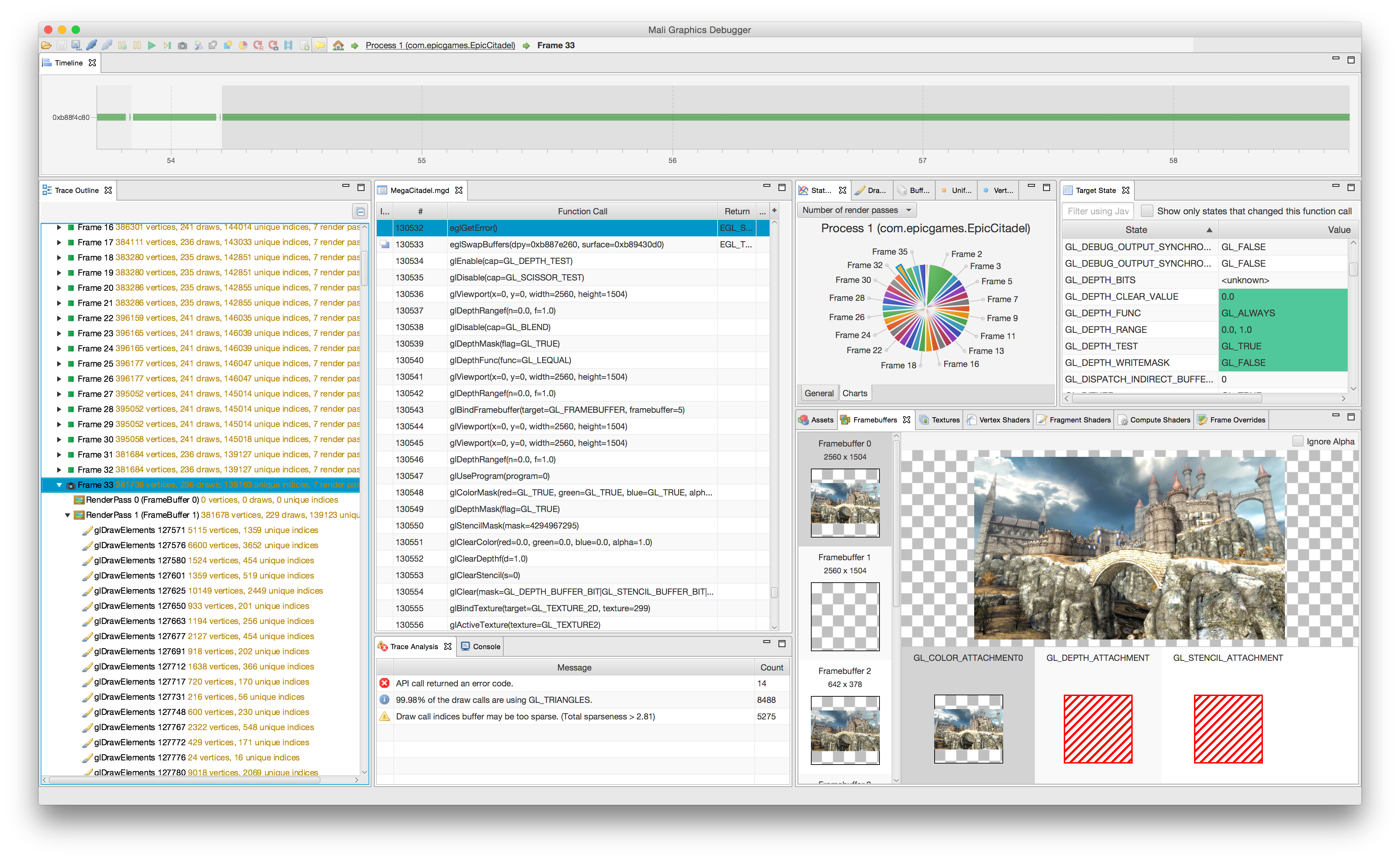 Mali Graphics Debugger v3