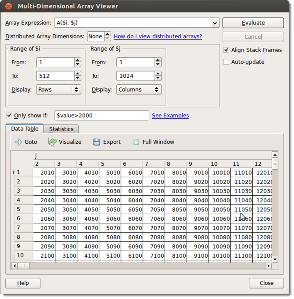 DDT Array Viewer